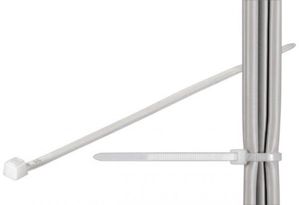 Brida 2.5x98mm transparenta pentru cabluri