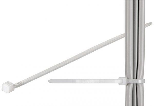 Brida (colier) plastic transparenta pentru cabluri