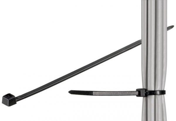 Brida (colier) plastic negru pentru cabluri de exterior