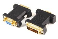 Adaptor DVI (12+5) tata la VGA mama, contacte aurite